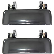Front, Driver and Passenger Side and Passenger Side Exterior Door Handle, Paint to Match, Plastic, Without Keyhole