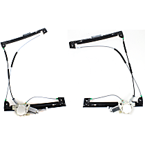 Front, Driver and Passenger Side Power Window Regulator, With Motor - Hatchback