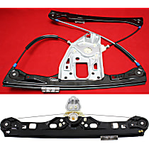 Front and Rear, Driver Side Power Window Regulator, Without Motor - Sedan