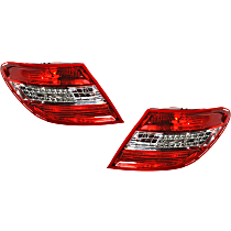 Driver and Passenger Side Tail Light, Lens and Housing, With LED Turn Signal, With Curve Lighting System, USA Type