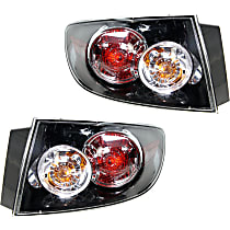Driver and Passenger Side Tail Light, With bulb(s), Sedan