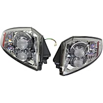 Driver and Passenger Side Tail Light, With bulb(s) - Clear Lens