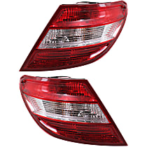 Driver and Passenger Side Tail Light, Assembly, Without LED Turn Signal, Without Curve Lighting System