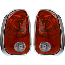 Driver and Passenger Side Tail Light, Without bulb(s) - Clear & Red Lens, and Socket