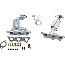 Front Firewall and Radiator Side Catalytic Converter with Integrated Exhaust Manifold For Models with 3.8L Eng 46-State Legal (Cannot ship to CA, CO, NY or ME) Set of 2