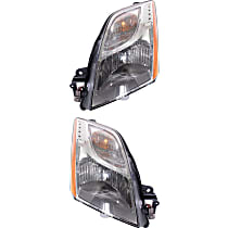 Driver and Passenger Side Halogen Headlight, With Bulb(s) - 10-12 Sentra (Base/S/SL Model)