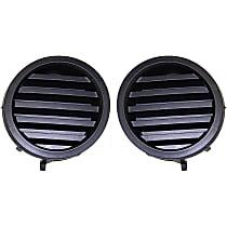 Driver and Passenger Side (Set of 2) Fog Light Cover, Black