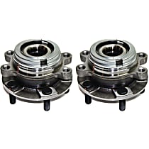 Front, Driver and Passenger Side Wheel Hub and Bearing Assembly, For AWD or FWD