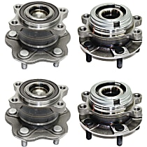 Front and Rear Wheel Hub & Bearing Assembly Driver and Passenger side