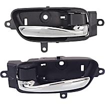 Front or Rear, Driver and Passenger Side Interior Door Handle, Chrome