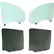 Front and Rear, Driver and Passenger Side Door Glass