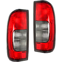 Driver and Passenger Side Tail Light, Without bulb(s) - Red & Smoked Lens, From 10/99