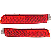 Rear, Driver and Passenger Side Bumper Reflector