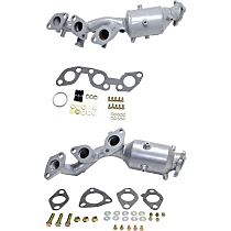 Front Driver and Passenger Side Catalytic Converter with Integrated Exhaust Manifold For Models with 3.3L Eng 46-State Legal (Cannot ship to CA, CO, NY or ME)