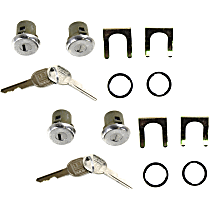 Replacement SET-REPO507201-2 Door Lock Cylinder - Chrome, Direct Fit, Set of 4