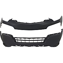 CAPA Certified Front, Upper and Lower Bumper Cover, Primed top; Textured Bottom