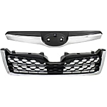 Grille Assembly - Textured Black Shell and Insert, with Radiator Grille