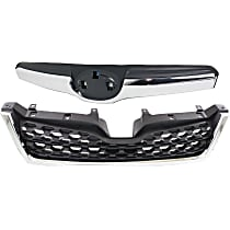 Grille Assembly - Textured Black Shell and Insert, with Radiator Grille, CAPA Certified