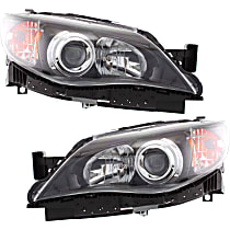 Driver and Passenger Side Halogen Headlight, With bulb(s) - Except 08-09 2.5 GT/Sport/Outback Sport Models