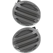 Driver and Passenger Side Fog Light Cover, Black