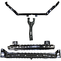 Radiator Support - Upper Tie Bar, with Center Hood Latch Support, Lower Inner and Outer Tie Bar