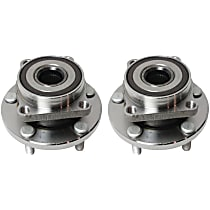 Front, Driver and Passenger Side Wheel Hub - Set of 2