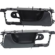 Front, Driver and Passenger Side Interior Door Handle, Textured Black