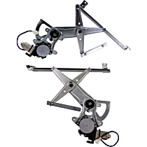 Window Regulator - Front, Driver and Passenger Side, Power with Motor