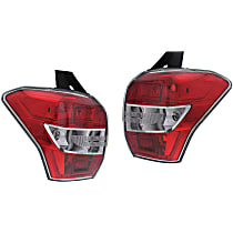 Driver and Passenger Side Tail Light, Without bulb(s) - Clear Lens