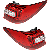 CAPA Certified Driver and Passenger Side, Outer Tail Light, Without bulb(s)