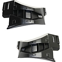 Replacement Bumper Guard - SET-REPT016701 - Front, Driver and Passenger Side, Textured, Plastic, Direct Fit, Set of 2