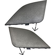 Front, Driver and Passenger Side Tow Eye Cover, Textured