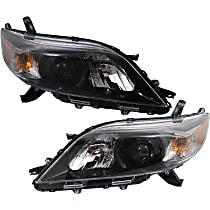 Driver and Passenger Side Halogen Headlights, With bulb(s) - 11-14 Sienna (SE Model)