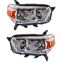 Headlights - Driver and Passenger Side, Pair, Without Trail Package, CAPA Certified
