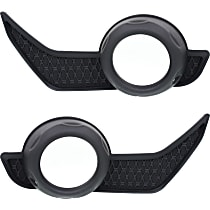 Fog Light Trim - Driver and Passenger Side, Textured Black, without Chrome Trim