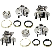Wheel Hub - Front and Rear, Driver and Passenger Side, FWD, Non-ABS