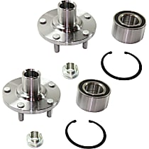Front, Driver and Passenger Side Wheel Hub and Bearing, For FWD with 3.0L V6 Engine