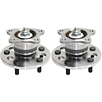 Rear, Driver and Passenger Side Wheel Hub And Bearing Assembly, For FWD, Non-ABS