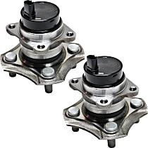 Rear, Driver and Passenger Side Wheel Hub And Bearing Assembly, For FWD, 4-Wheel ABS