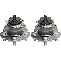 Rear, Driver and Passenger Side Wheel Hub Bearing included - Set of 2