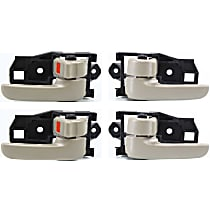 Front and Rear, Driver and Passenger Side Interior Door Handle, Beige