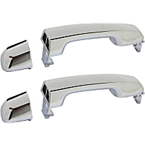 Rear, Driver and Passenger Side Exterior Door Handle, Chrome