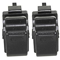 Window Switch - Black, 1-Button, Set of 2