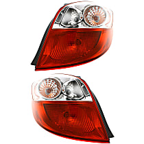Driver and Passenger Side Tail Light, With bulb(s) - Clear & Red Lens, CAPA CERTIFIED