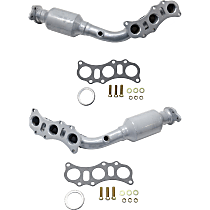 Front Driver and Passenger Side Catalytic Converter with Integrated Exhaust Manifold For Models with 4.0L Eng 46-State Legal (Cannot ship to CA, CO, NY or ME)