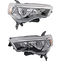 Headlights - Driver and Passenger Side, Pair, Black Trim, CAPA Certified