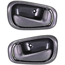 Front and Rear, Driver and Passenger Side Interior Door Handle, Black, w/ Manual Door Locks