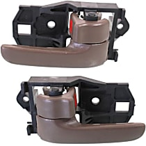 Front or Rear, Driver and Passenger Side Interior Door Handle, Brown