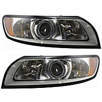 Headlights - Driver and Passenger Side, Pair, 2008-2011 Style, With Bulb(s)