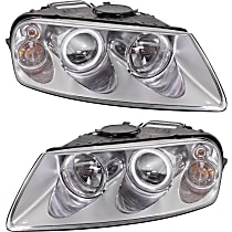 Driver and Passenger Side Halogen Headlight, With bulb(s)